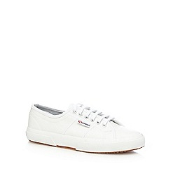Superga - White 'Fglu' lace up shoes