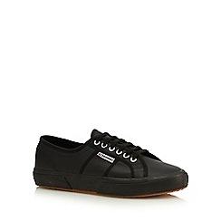 Superga - Black leather lace up shoes