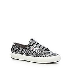 Superga - Grey 'Cotsnakew' lace up shoes