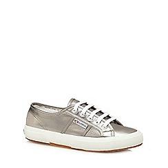 Superga - Silver 'Cotmetu' lace up shoes