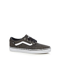 Vans - Grey canvas 'Chapman' lace up shoes