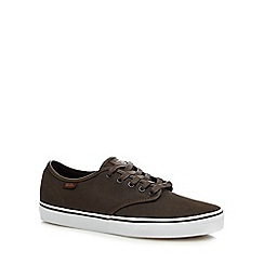Vans - Khaki canvas 'Camden' lace up shoes