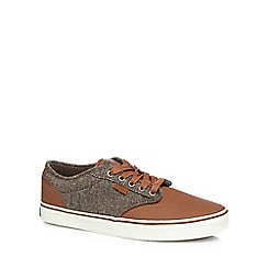 Vans - Tan canvas lace up trainers