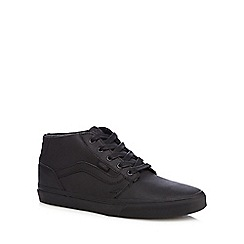 Vans - Black leather Chukka boots
