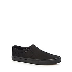 Vans - Black 'Asher' canvas slip on shoes