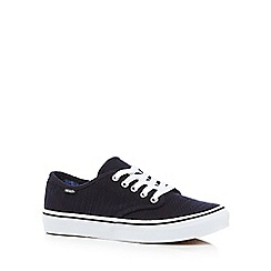 Vans - Navy canvas 'Camden Stripe' trainers