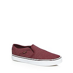 Vans - Purple 'Asher' slip-on trainers