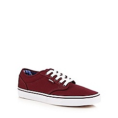 Vans - Dark red 'Atwood' lace up shoes