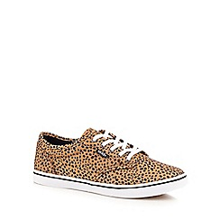 Vans - Tan 'Atwood' cheetah print lace up shoes