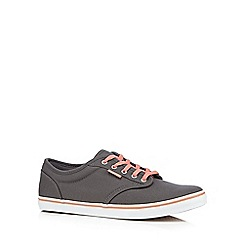 Vans - Grey canvas 'Atwood Low' lace up shoes