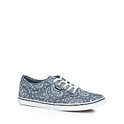 Vans - Pale blue 'Atwood' paisley print lace up shoes