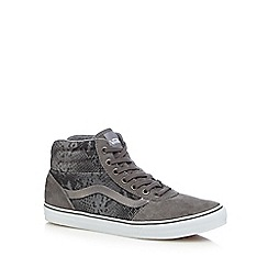 Vans - Grey suede 'Milton' high top trainers