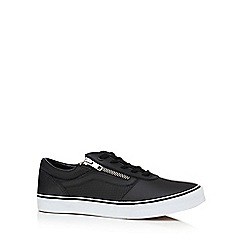 Vans - Black leather 'Milton' lace up shoes