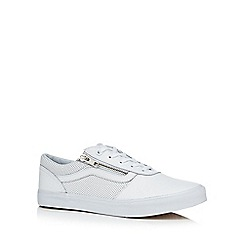 Vans - White leather 'Milton' trainers