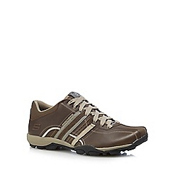 Skechers - Brown leather 'Tread Refresh' trainers