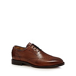H By Hudson - Brown 'Twain' punch detail brogue shoes