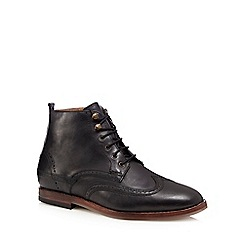 H By Hudson - Black 'Penley' wingtip leather ankle boots