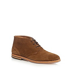 H By Hudson - Tan 'Houghton 3' suede chukka boots