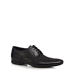 H By Hudson - Black 'Mint' leather brogues