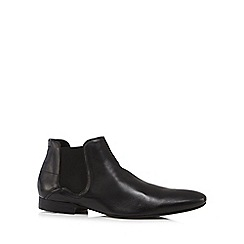 H By Hudson - Black 'Mint' leather Chelsea boots