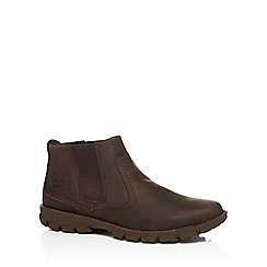 Caterpillar - Brown leather 'Hoffman' Chelsea boots