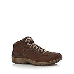 Caterpillar - Dark tan leather boots