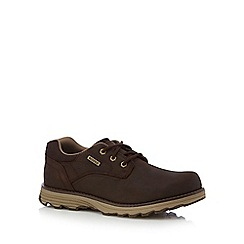 Caterpillar - Brown leather 'Prez' lace up shoes