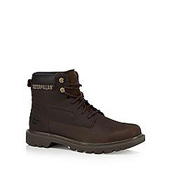 Caterpillar - Dark brown 'Bridgeport' ankle boots