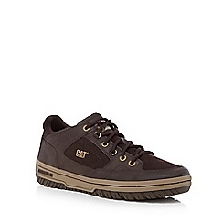Caterpillar - Brown 'Assign' leather panel trainers