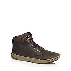Caterpillar - Brown 'Colfax' leather demi-boots