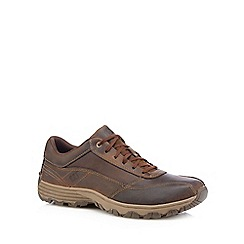 Caterpillar - Brown 'Eon' leather trainers