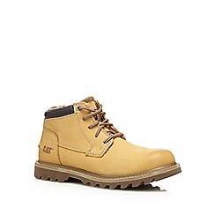 Caterpillar - Tan 'Doubleday' fleece lined boots
