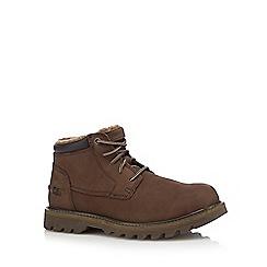 Caterpillar - Brown leather chukka boots