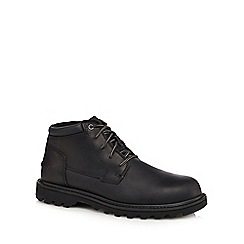 Caterpillar - Black leather 'Doubleday' chukka boots