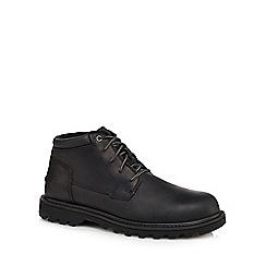 Caterpillar - Black leather 'Doubleday' chukka boots