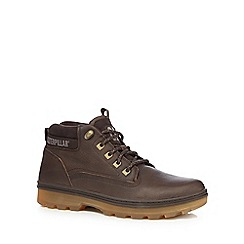 Caterpillar - Brown leather ankle boots
