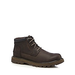 Caterpillar - Dark brown 'Doubleday' chukka boots