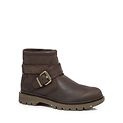 Caterpillar - Dark brown 'Rey' biker boots