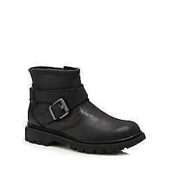 Caterpillar - Black leather 'Rey' ankle boots