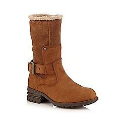 Caterpillar - Tan 'Randi' mid calf boots