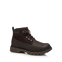Caterpillar - Brown leather 'Melody' lace up boots