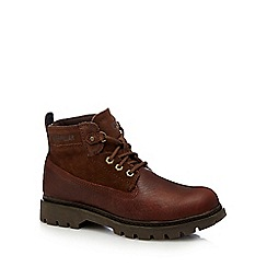 Caterpillar - Tan leather 'Melody' lace up boots