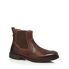 Clarks - Brown 'Faulkner' Chelsea boots