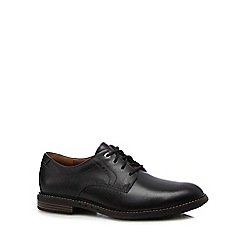 Clarks - Black leather 'Unelott' Derby shoes