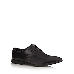 Clarks - Black patent 'Bampton Limit' Derby shoes