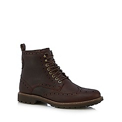 Clarks - Dark brown 'Montacute Lord' boots