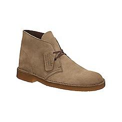 Clarks - Khaki suede Desert boots