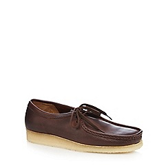 Clarks - Brown leather 'Wallabee' lace up shoes