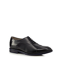Clarks - Black leather 'Swinley Cap' Oxford shoes