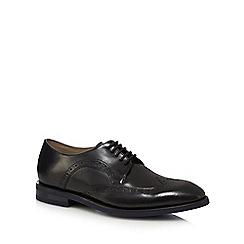 Clarks - Black leather 'Swinley' Derby shoes